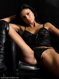 Helena Karel in lingerie