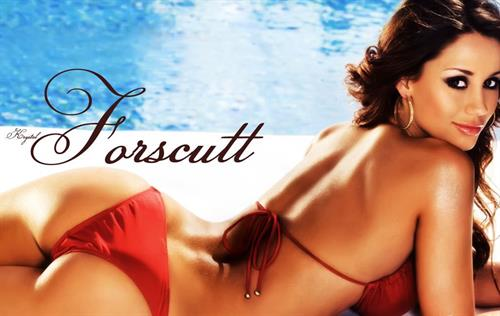 Krystal Forscutt in a bikini - ass
