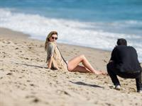 Mischa Barton in a beach photoshoot in Los Angeles