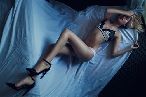 Megan Blake Irwin in lingerie