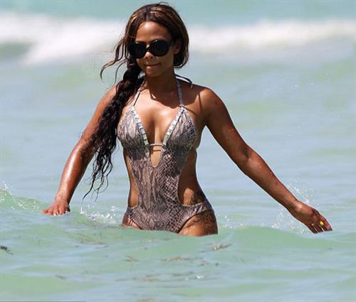 Christina Milian in a bikini