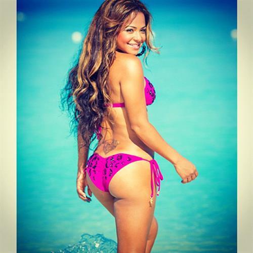 Christina Milian in a bikini - ass
