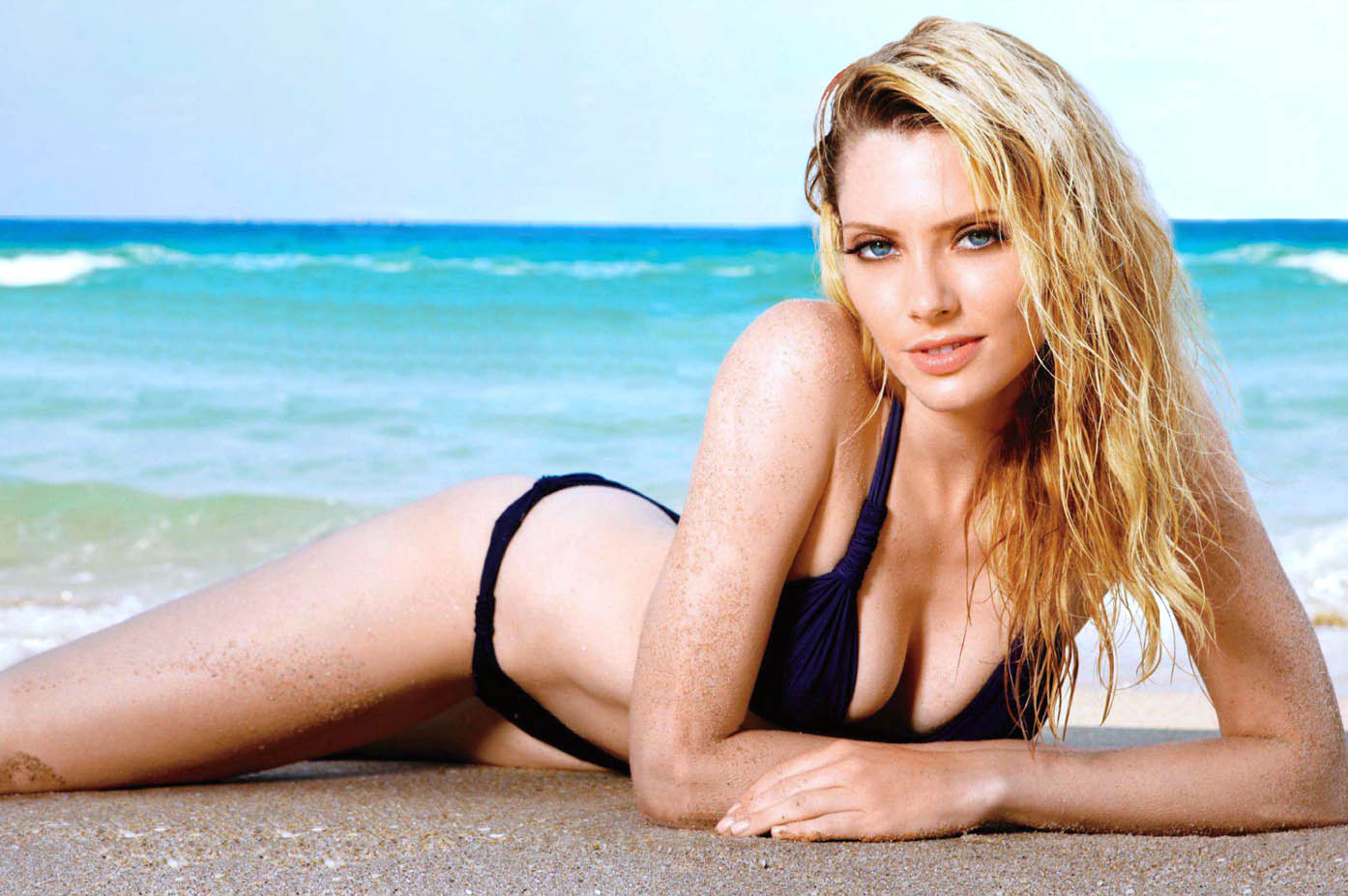 April Bowlby in a bikini