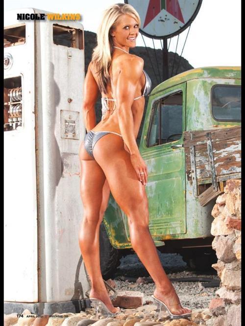 Nicole Wilkins in a bikini - ass