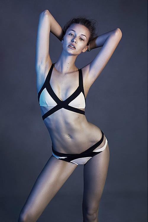 Kristina Romanova in a bikini