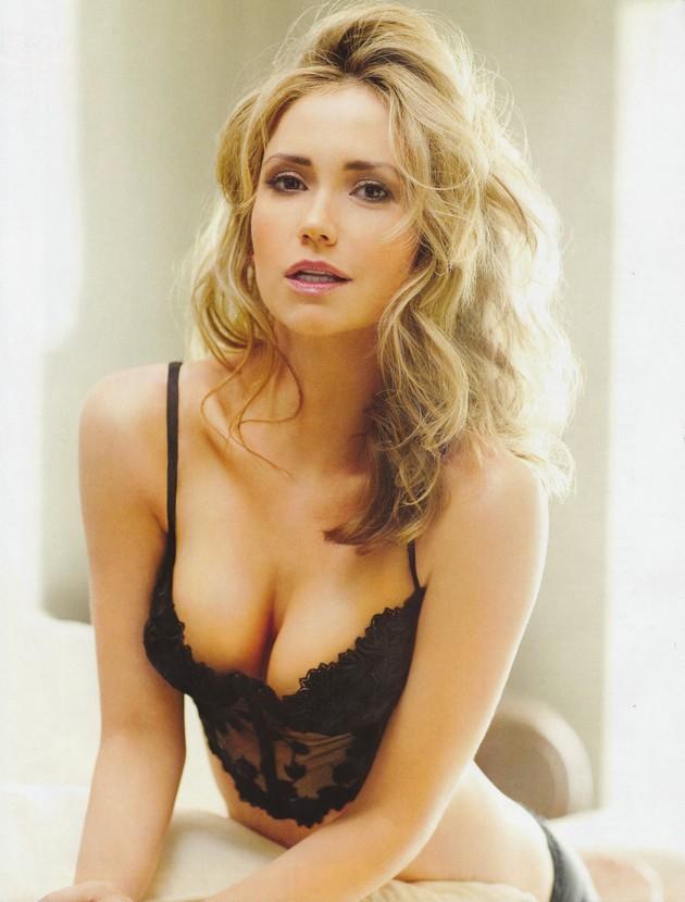 Ashley Jones in lingerie