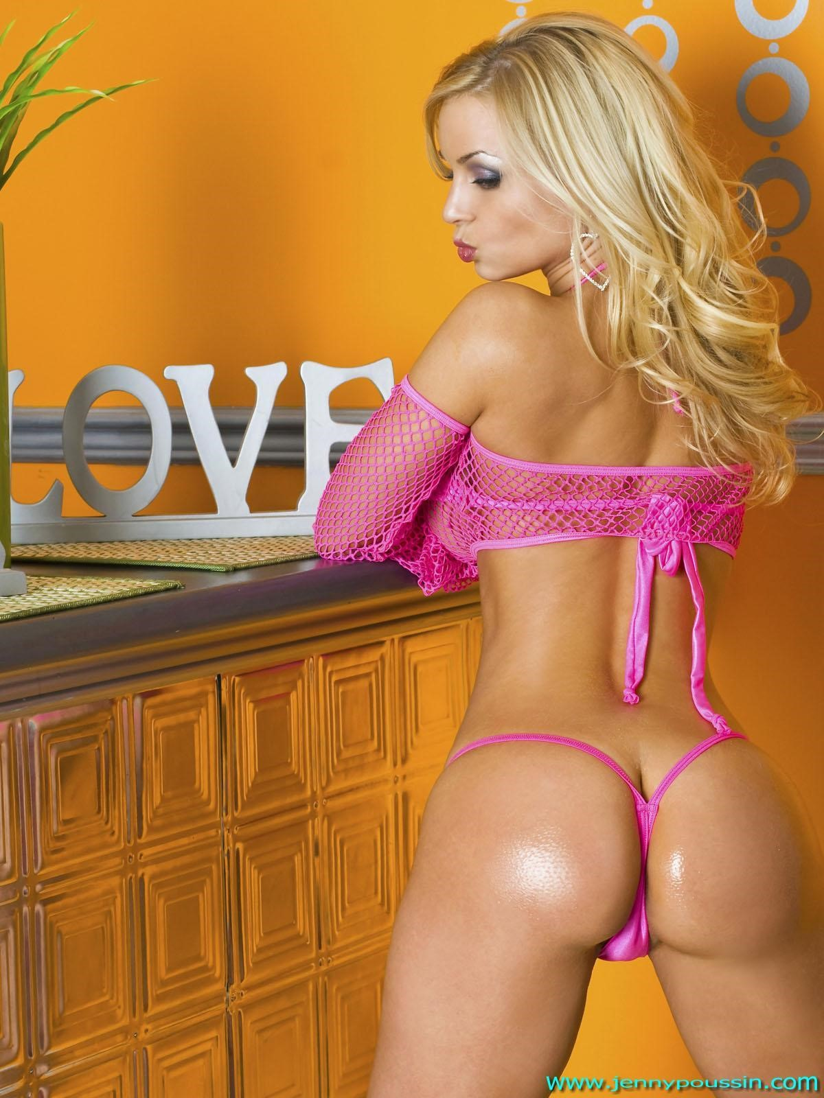 Jenny Poussin in lingerie - ass