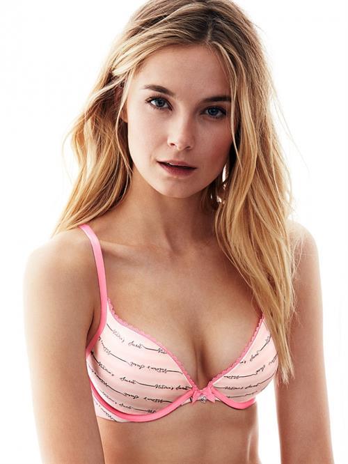 Bridget Malcolm in lingerie
