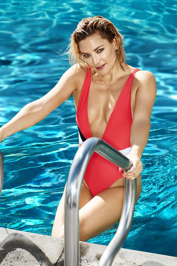 Kate Hudson in fiery red swimsuit