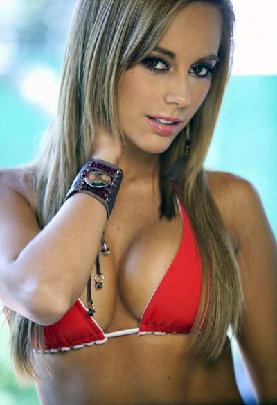 Maria Elisa Camargo in a bikini