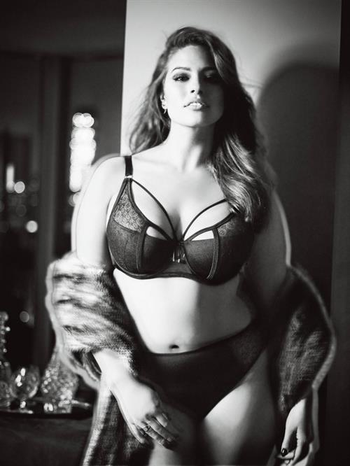 Ashley Graham in lingerie