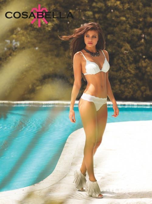 Yara Khmidan in lingerie