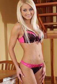 Pinky June in lingerie