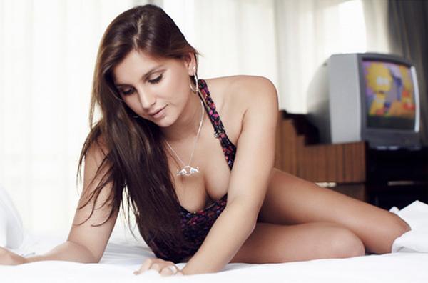 Maya Gabeira in lingerie