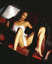 KD Aubert in lingerie