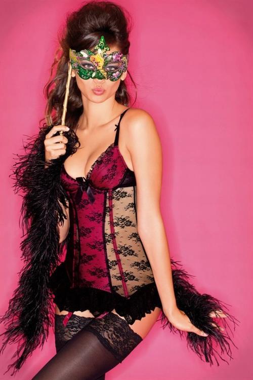 Michelle Vawer in lingerie