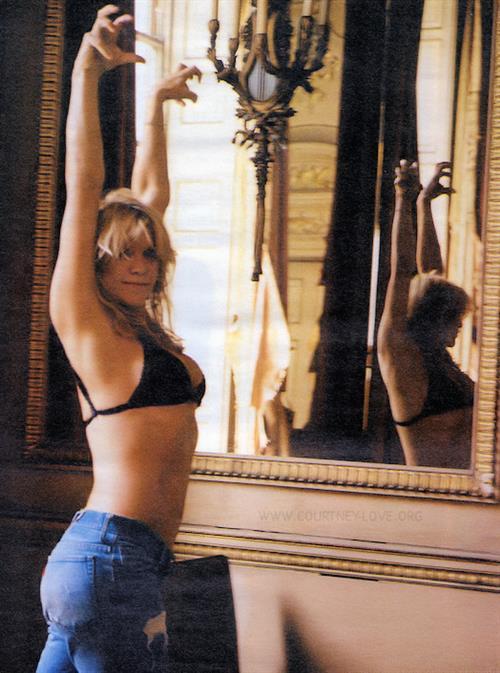 Courtney Love in a bikini