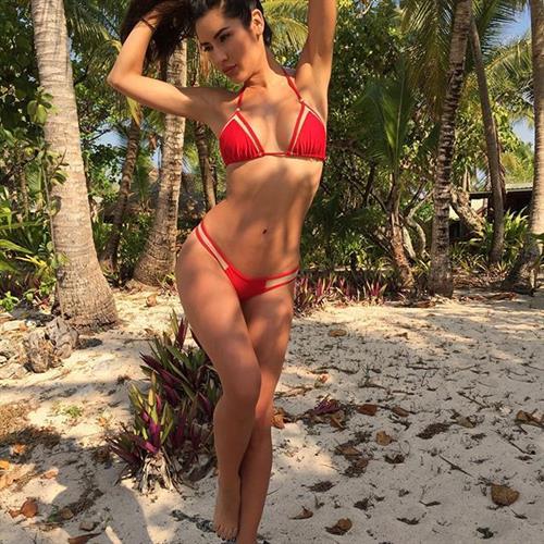 Mercedes Terrell in a bikini