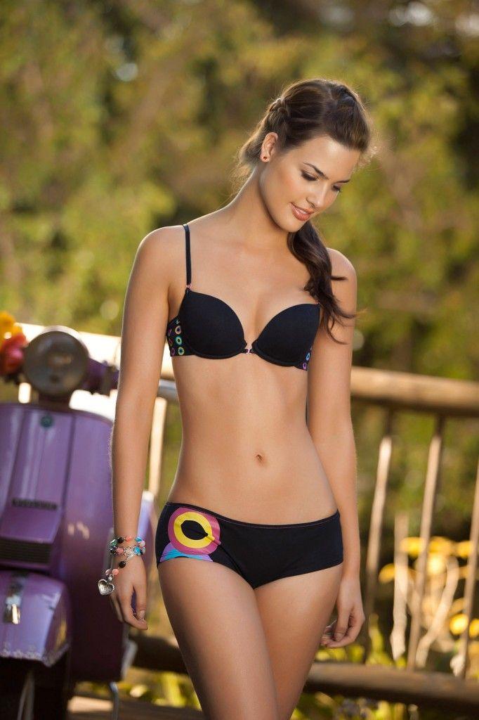 Karen Gaurisas in lingerie