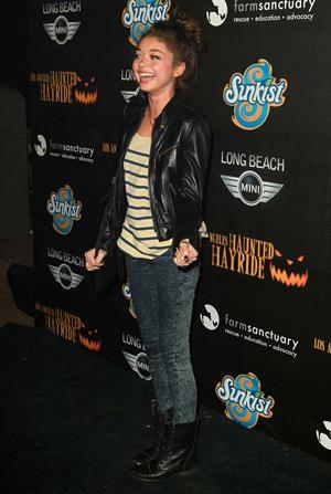 Sarah Hyland 4th annual Haunted Hayride LA 10/7/12