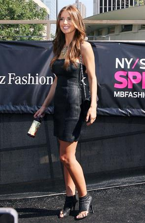 Audrina Patridge at the Spring 2012 Mercedes-Benz Fashion Week