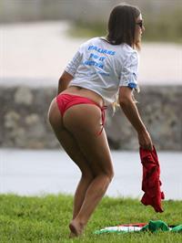 Claudia Romani in a bikini - ass