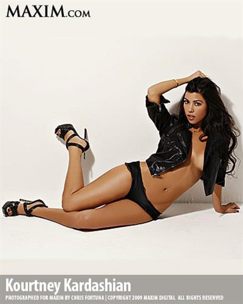 Kourtney Kardashian in Maxim Magazine