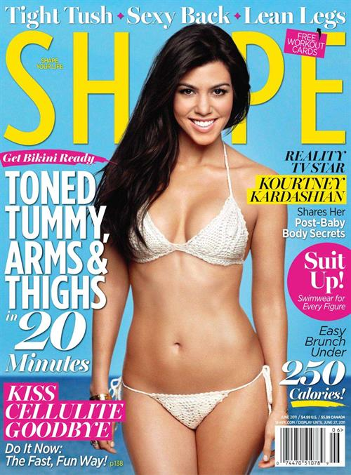 Kourtney Kardashian on the cover of Shape Magazine