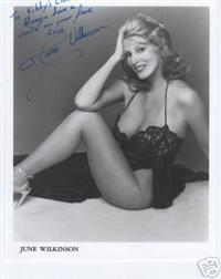 June Wilkinson in lingerie