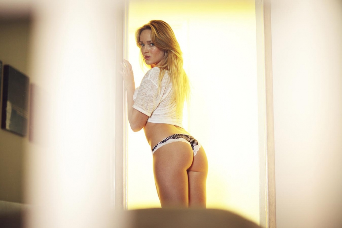 Caity Lotz in lingerie - ass