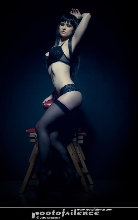 Sister Sinister in lingerie