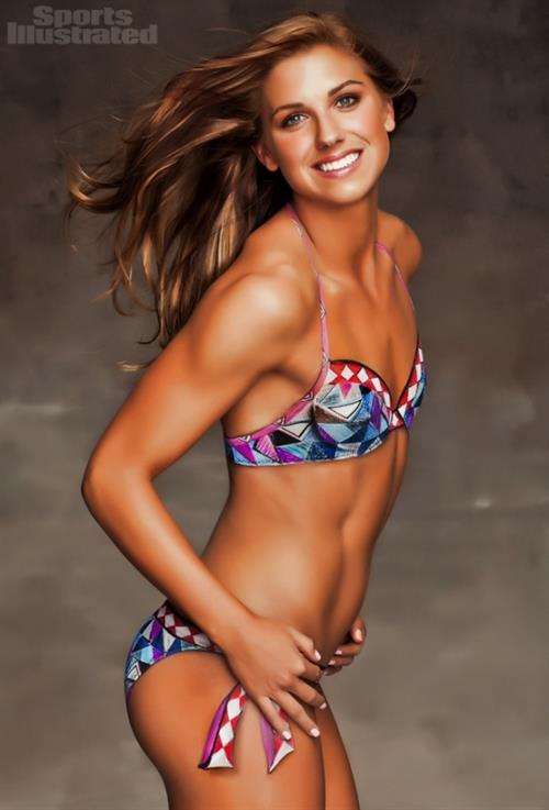Alex Morgan in body paint