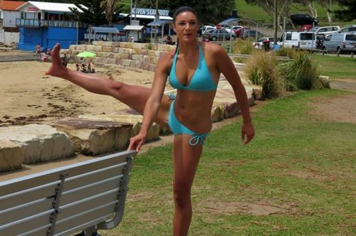 Michelle Jenneke in a bikini