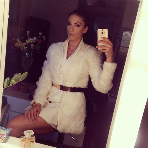 Ivana Španović taking a selfie