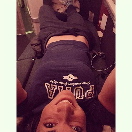 Michelle Jenneke taking a selfie