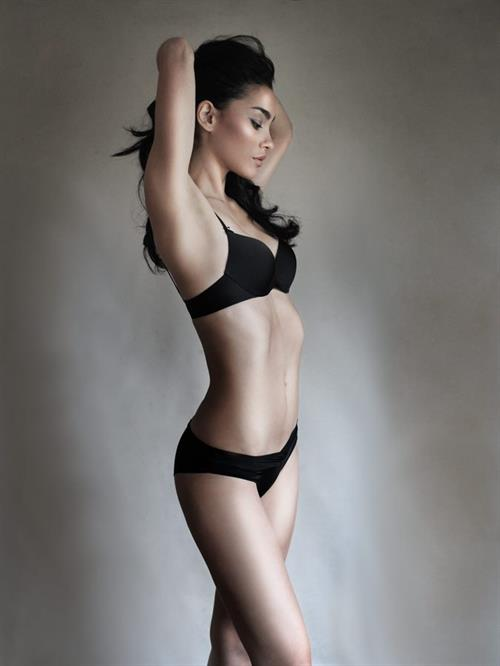 Adrianne Ho in lingerie