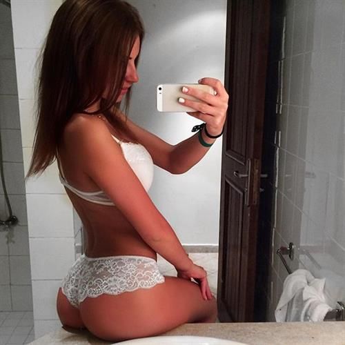 Galina Dubenenko in lingerie taking a selfie and - ass
