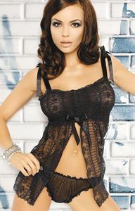 Marta Gut in lingerie