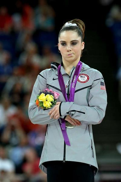 McKayla Maroney looking unimpressed after winning silver