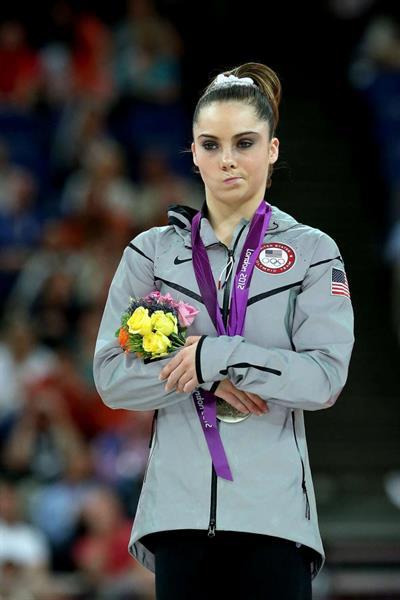 McKayla Maroney looking unimpressed after winning silver