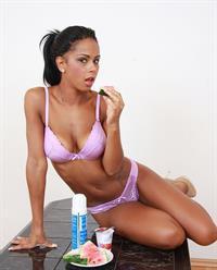 Isabella Chrystin in lingerie