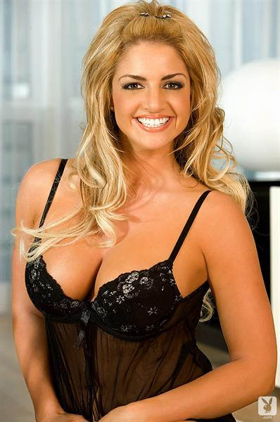 Breann McGregor in a Black Babydoll