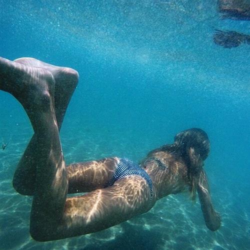 Bronte Blampied in a bikini - ass