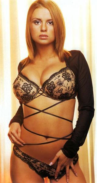 Anna Semenovich in lingerie