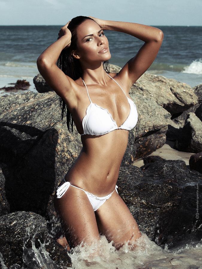 Ana Cunya in a bikini