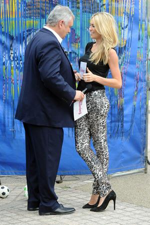 Abigail Clancy this morning set at the London studios on July 26, 2011