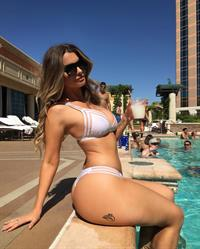 Emily Sears in a bikini