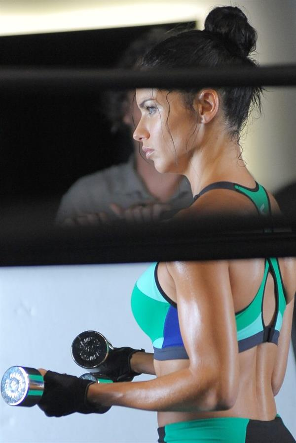 Adriana Lima working out in New York