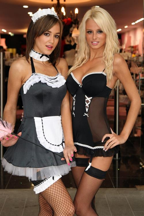 Rhian Sugden in lingerie