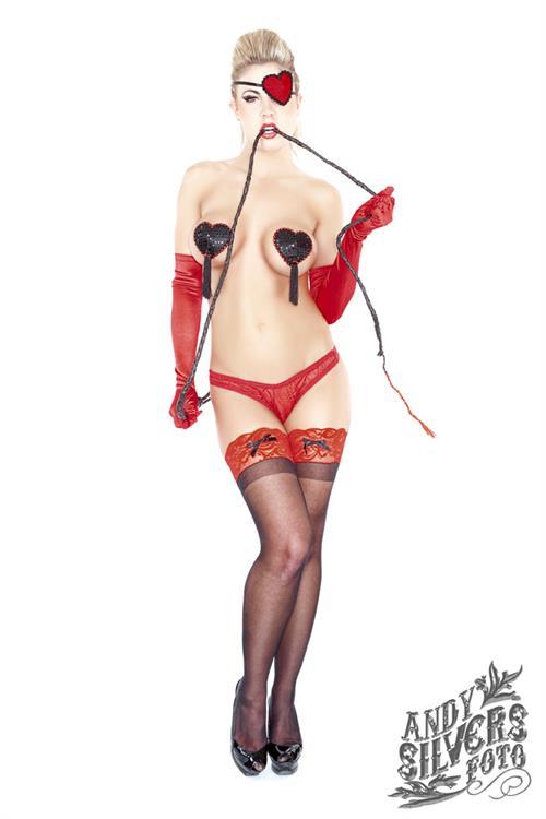 Mallory Clark in lingerie